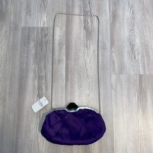 NWT le cheated purple clutch purse